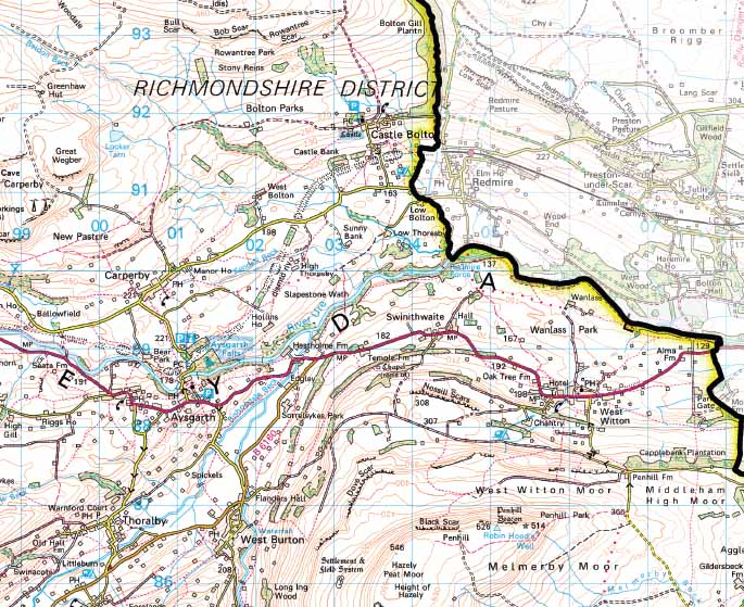 Yorkshire Dales National Park Wall Map – Yorkshire Dales National Park Planning